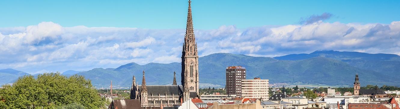 La ville de Mulhouse où se situe l'agence d'intérim MCM Mulhouse